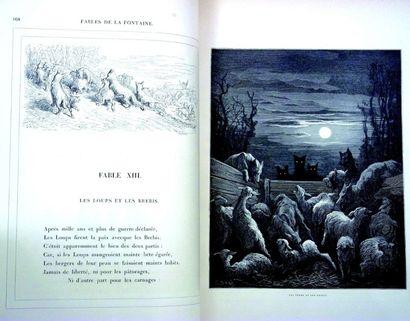 Grand ouvrage «Les Fables de La Fontaine» avec illustrations par Gustave DORE (format:...