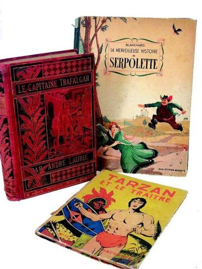 Ensemble de livres d'enfant, comprenant: «Tarzan et le traître» (HACHETTE)(1946)...