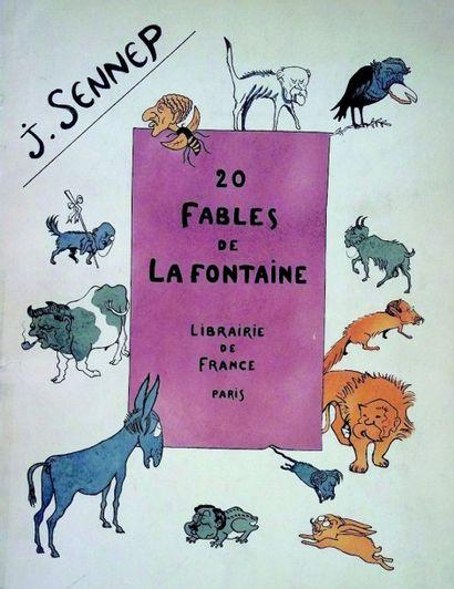 «20 Fables de La Fontaine» Ouvrage caricatural...