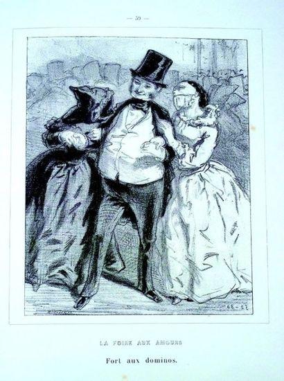 «MASQUES et VISAGES» par GAVARNI (1804-1866) avec notice par C.A. Sainte-Beuve (Calman-Levy...