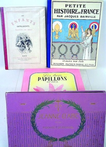 Ensemble de livres pour enfants, comprenant: «Les trois papillons roses», une conte...