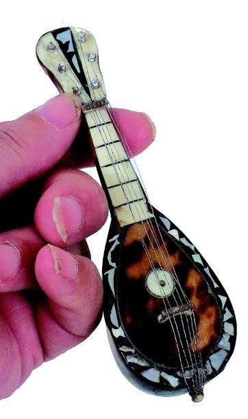 Mandoline en écaille avec cordes en métal...