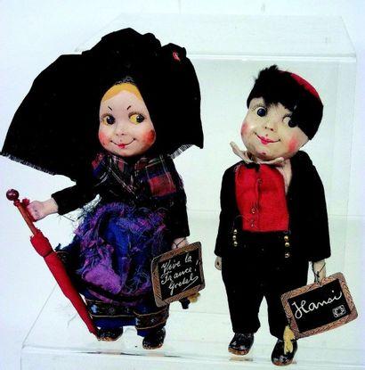 «YERRI» et «GRETEL» couple de poupées fétiches...