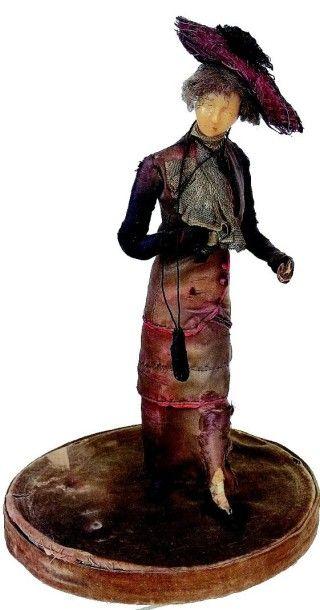 Figurine de Mode de avec tête en cire réalisée...