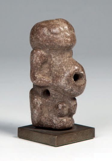 Kissi, Guinée. Statuette hermaphrodite en...