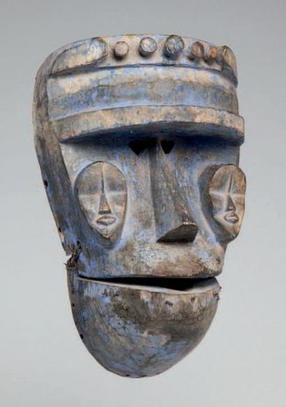Kran, Libéria. Masque à machoire mobile de...