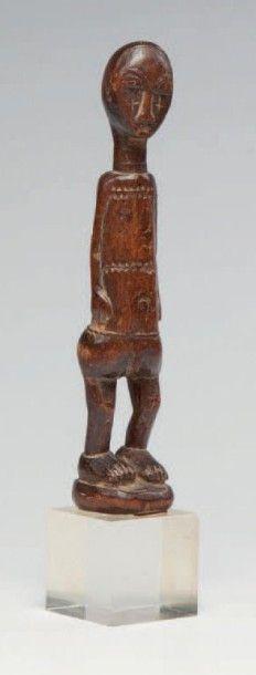 Baoulé, Côte d'Ivoire. Statuette masculine...