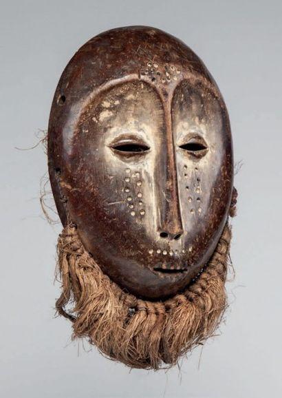 Lega, Congo RDC. Beau masque ovale, visage...
