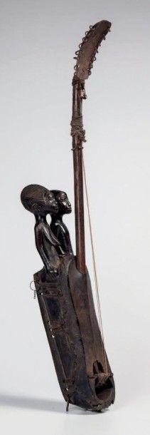 Mossi, Burkina. Cora en bois recouverte de...