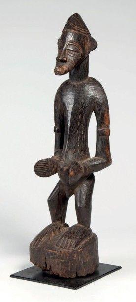 Sénoufo, Côte d'Ivoire. Statue masculine...