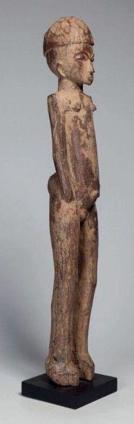 Lobi, Burkina Faso. Grande statue féminine...