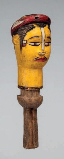 Kuyu, Congo. Tête à dominante jaune ceinte...