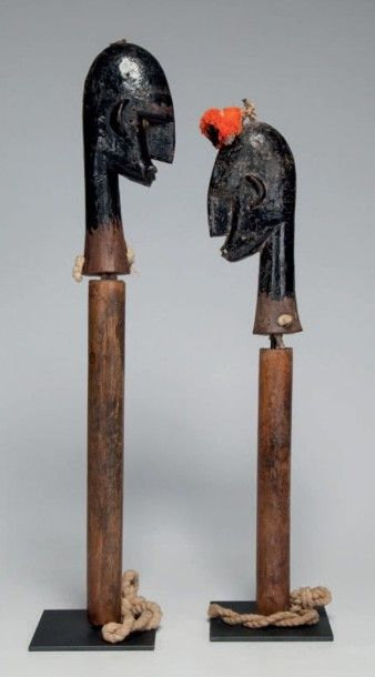 Bozo/Bambara, Mali. Couple de marionnettes...