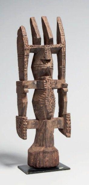 Igo/Itsoko, Nigéria. Figure d'autel anthropozoomorphe...
