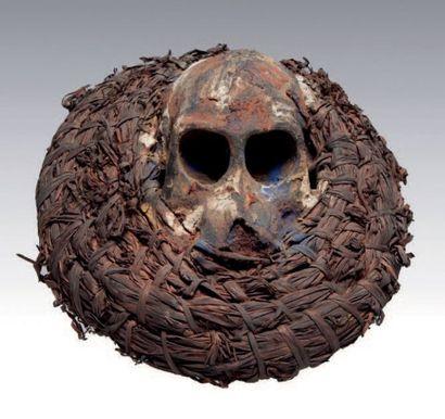 AFIKPO, Nigéria. Masque cimier composé d'un...