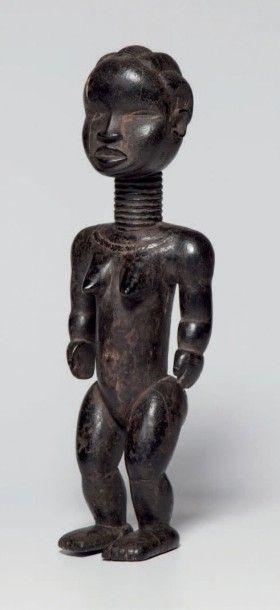 Dan, Côte d'Ivoire. Statue féminine en bois...