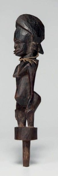 Senoufo, Côte d'Ivoire. Statuette féminine,...