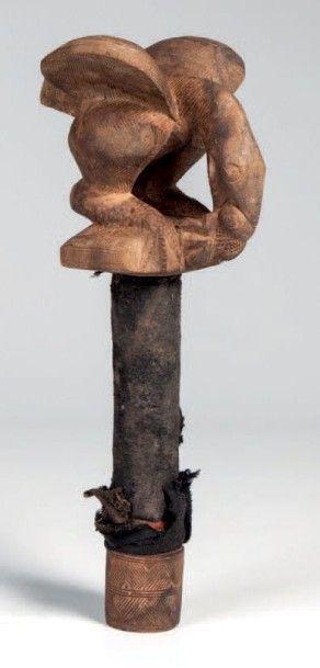 Baoulé, Côte d'Ivorire. Haut de canne de...