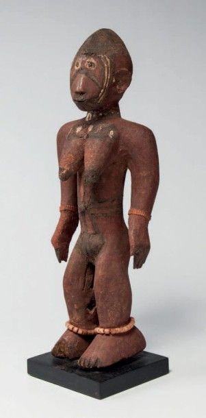 Mossi, Burkina Faso. Statue féminine dont...