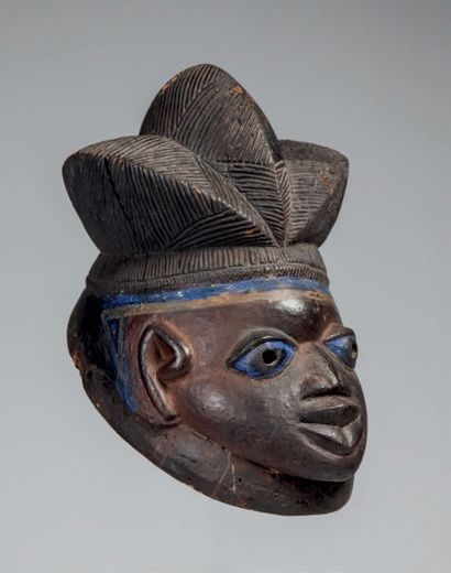 Yoruba, Nigéria. Masque de type «Gélédé»...