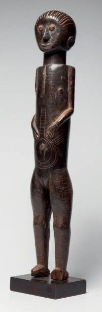 Tiv, Nord Nigéria. Rare statue féminine «Inhambe»...