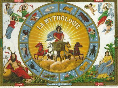 Superbe épreuve de couvercle de jeu «La MYTHOLOGIE»...