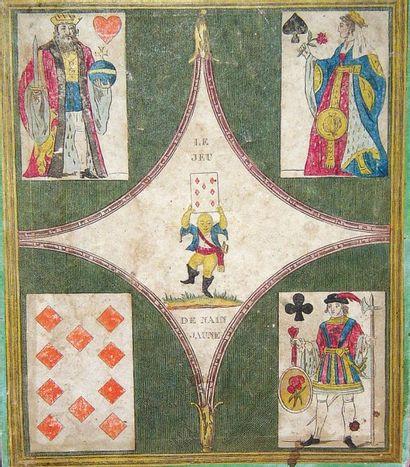Tableau de jeu de Nain jaune en papier lithographié...