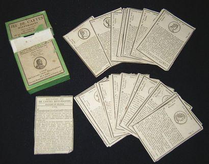 «Jeu de cartes historiques contenant un abrégé...
