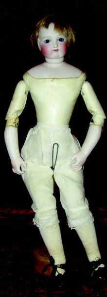 Originale poupée parisienne, tête en biscuit...