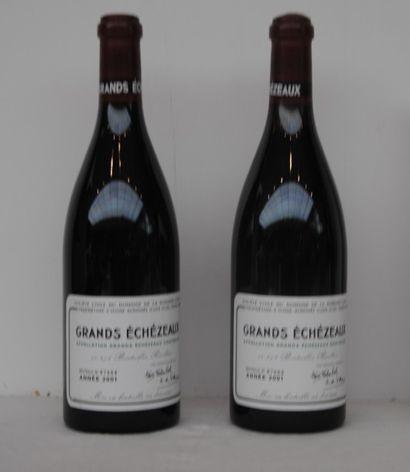 2 bout GRANDS ECHEZEAUX DRC 2001 (manque...