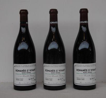 3 bout ROMANEE ST VIVANT DRC 2002