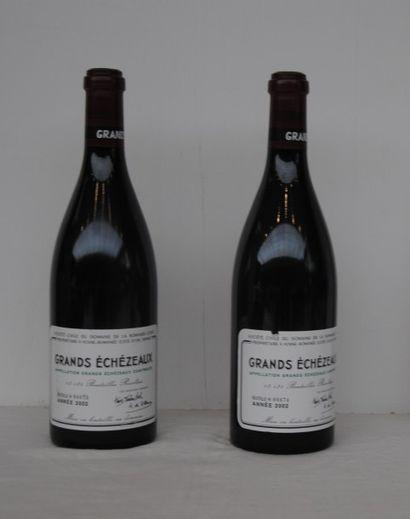 2 bout GRANDS ECHEZEAUX DRC 2002