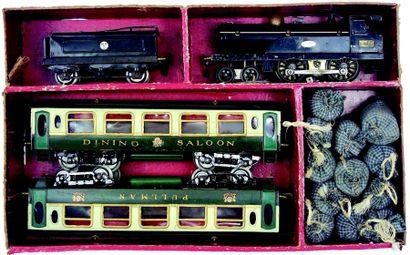 Train électrique avec locomotive type vapeur...