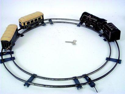 Train mécanique de petite taille en métal...