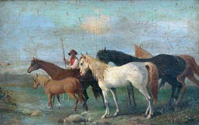 ÉCOLE ITALIENNE ou HOLLANDAISE, XIXe siècle