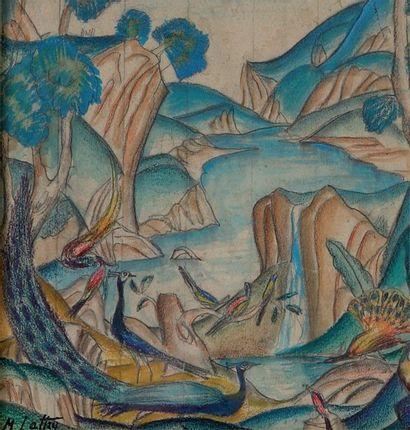 Mikhail  LATRI  (1875-1941),  Paons