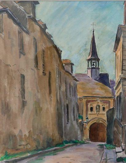 lexandre  SEREBRIAKOFF  (1907-1995)  Clocher