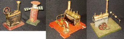 Ensemble de trois machines à vapeur de fabrication...