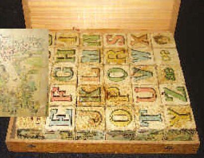 Jeux de c u b e s Alphabétiques en bois dans...