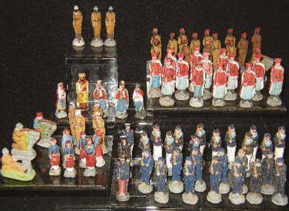 Très grand ensemble de 75 soldats miniatures...