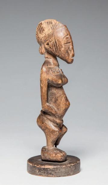 SENOUFO, Côte d'Ivoire. Statuette en bois...
