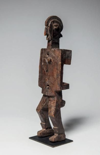 DOGON, Mali. Rare serrure en forme de personnage...