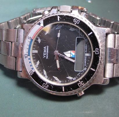 YEMA, chronographe en acier
