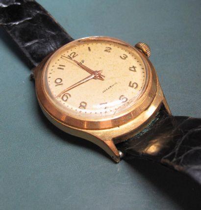 Montre bracelet LIP , plaquée or