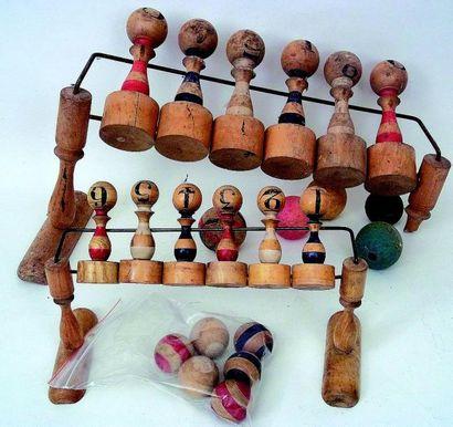 Jeu de «QUILLES RUSSES» en bois et couleurs....
