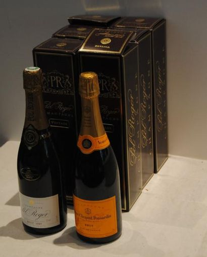 7 bout 6 CHAMPAGNE POL ROGER 1989, 1 CHAMPAGNE...