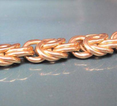Bracelet en or jaune 750°/00 (tête d'aigle),...