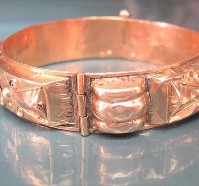Bracelet rigide en or s de couleur 750°/00...