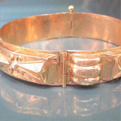 Bracelet rigide en ors de couleur 750°/00...
