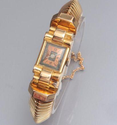 Montre bracelet de dame en or jaune 750°/00...